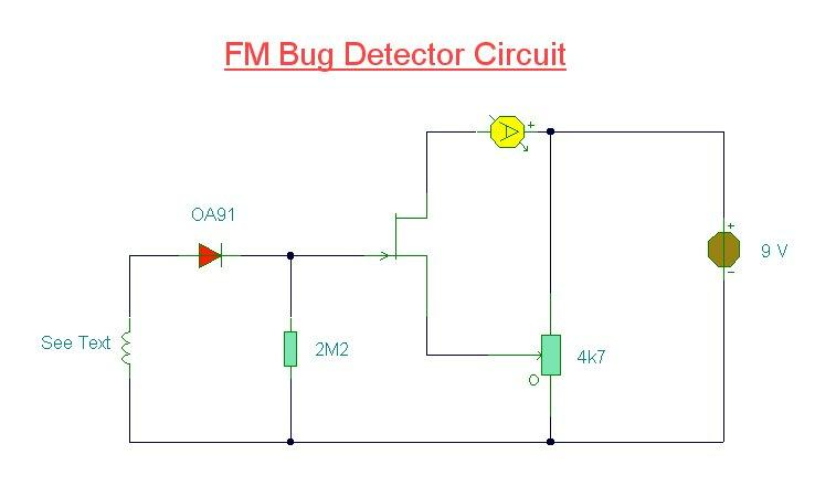 Bug Detector Circuit diagram