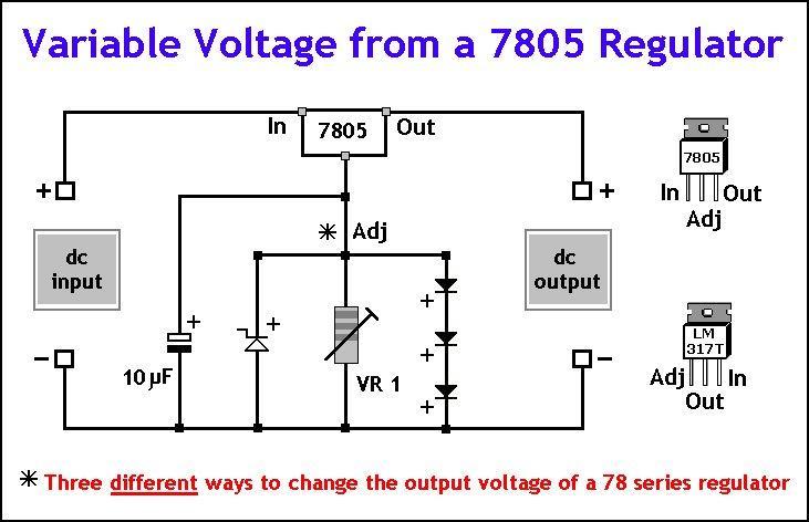 dc variable voltage regulator circuit diagram enthusiast wiring rh rasalibre co adjustable dc voltage regulator circuit diagram lm317 adjustable voltage regulator circuit diagram