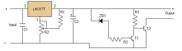Overvoltage Protection for the LM317