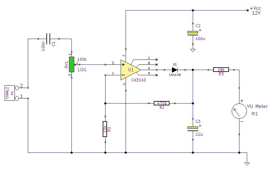 Audio Peak Level Meter circuit diagram
