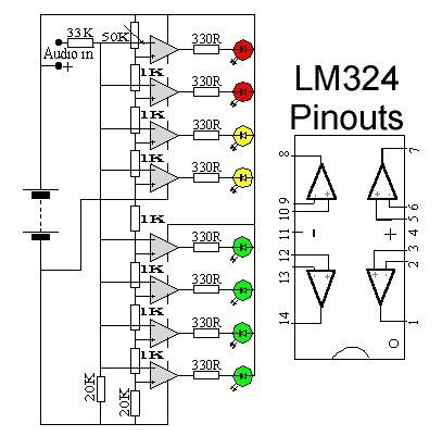 Audio VU Meter Circuit Diagram