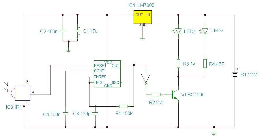 ir remote control extender mark 3Ir Remote Extender Circuit #15