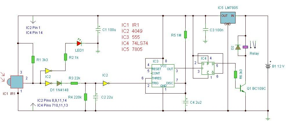 how to connect ir sensor in a circuit