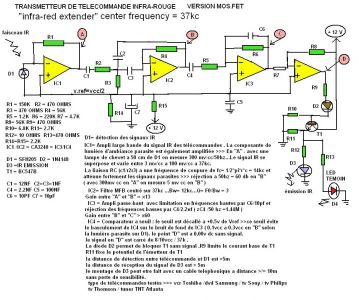 Infra Red Extender Circuit Diagram